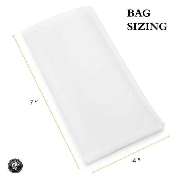 4x7 inch rosin bags sizing